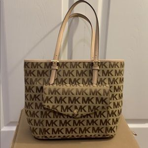 Michael Kors signature side pocket purse